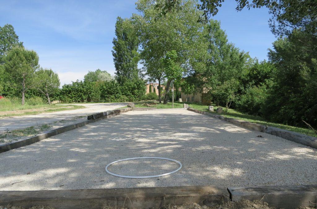 Terrain de pétanque au Domaine de la Bastidonne