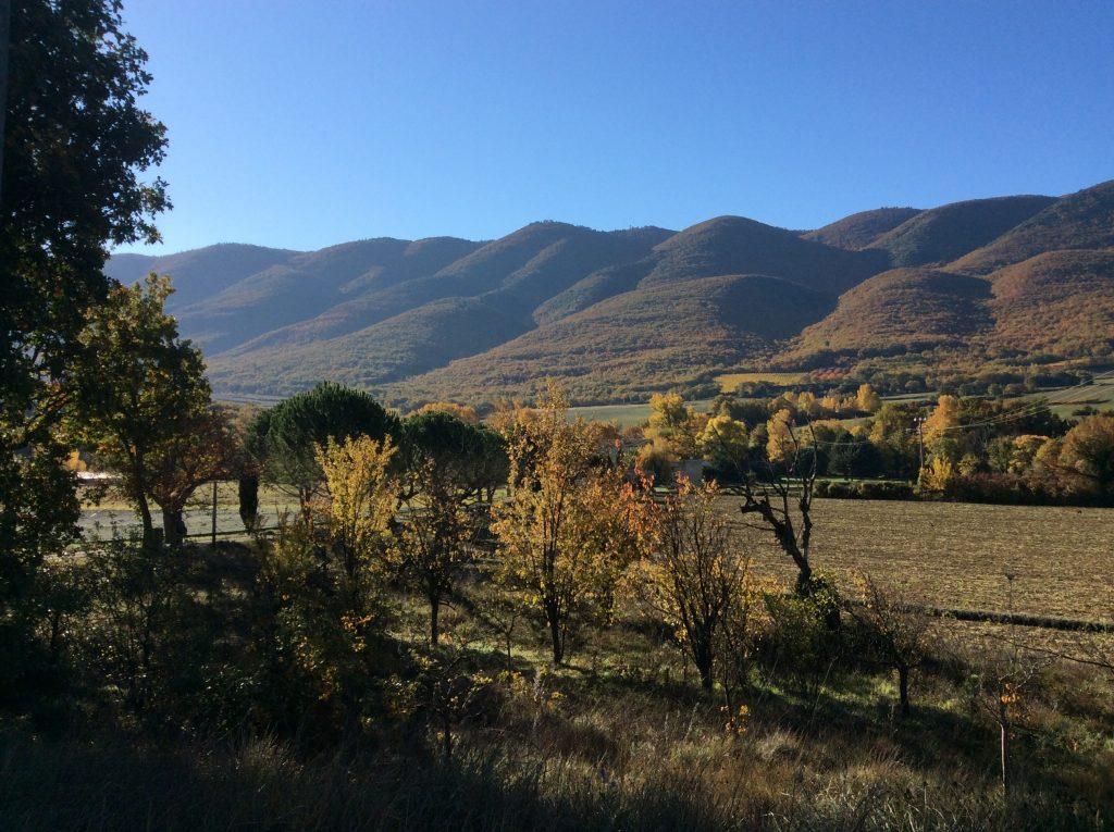 Paysage d'automne dans le Luberon