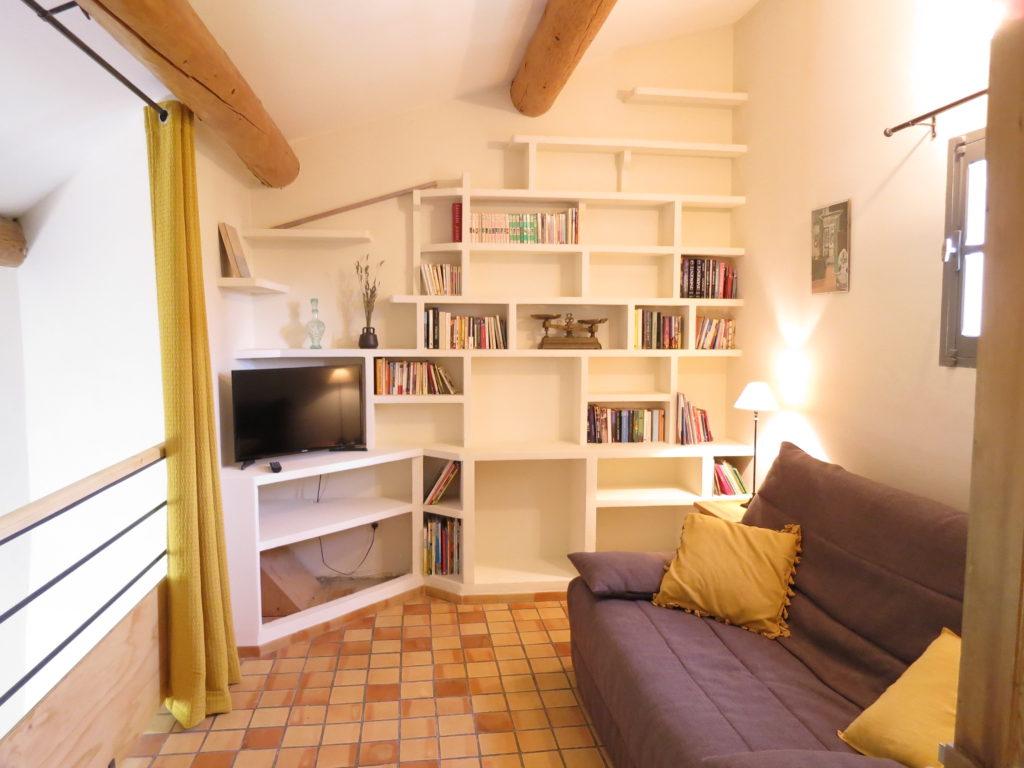Mezzanine avec canapé convertible très confortable