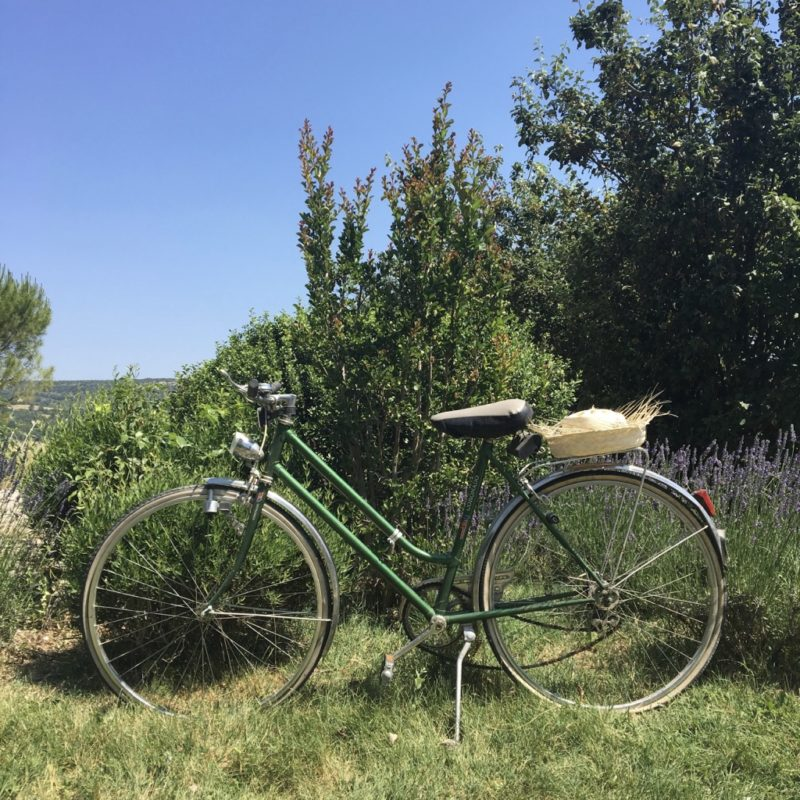 Le domaine de la bastidonne se situe le long de la piste cyclable cavaillon forcalquier
